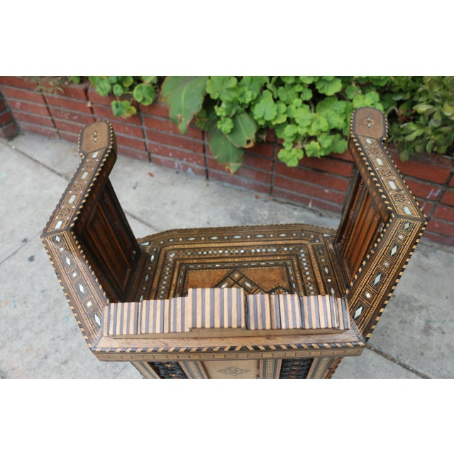 Brown Moroccan 1920's Side Chair For Sale - Image 8 of 9