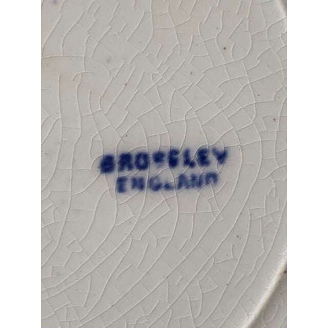19th Century Broseley England Blue Willow Plates - Set of 5 For Sale - Image 4 of 6