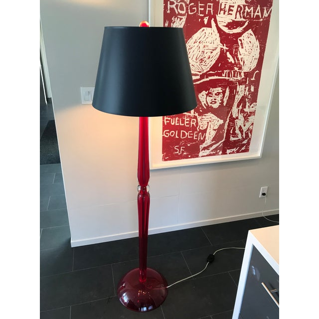 Otium Nyc Red Murano Glass Floor Lamp For Sale - Image 10 of 10