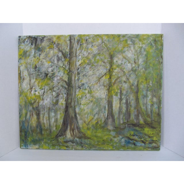"Beautiful vintage Impressionist painting of a forest. Signed lover right ""Stella Wolf Quatters"". This pairing would look..."