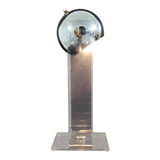 Mid-Century Modern Robert Sonneman Lucite and Chrome Bulb Table Desk Lamp, 1970s For Sale