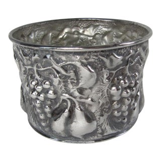 Italian Repousse Silverplate Wine Bottle Holder For Sale