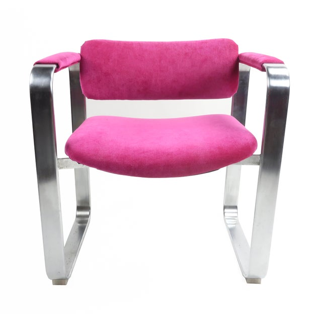 Pink 1960s Scandinavian Modern Eero Aarnio for Mobel Italia Executive Armchair For Sale - Image 8 of 8