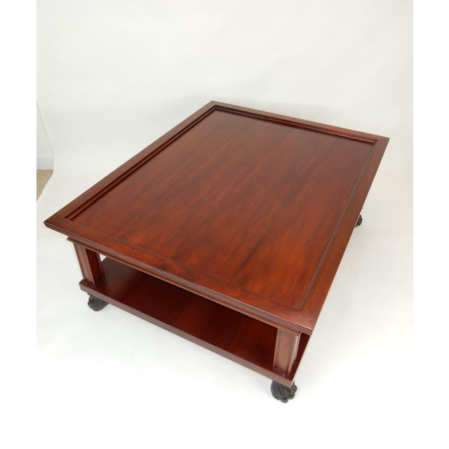Traditional Two Tier Mahogany Coffee Table by Ralph Lauren 50 Inches For Sale - Image 9 of 13