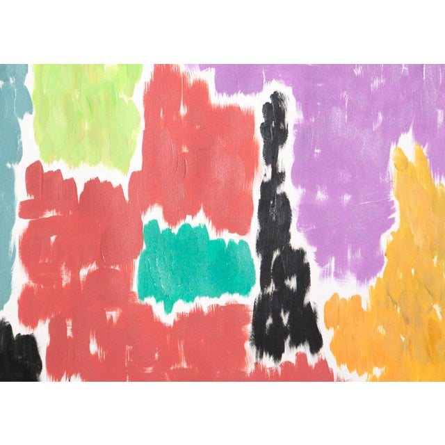 Paper Leaving the City Diptych Abstract Shapes Cityscape Painting by Natalia Roman For Sale - Image 7 of 12