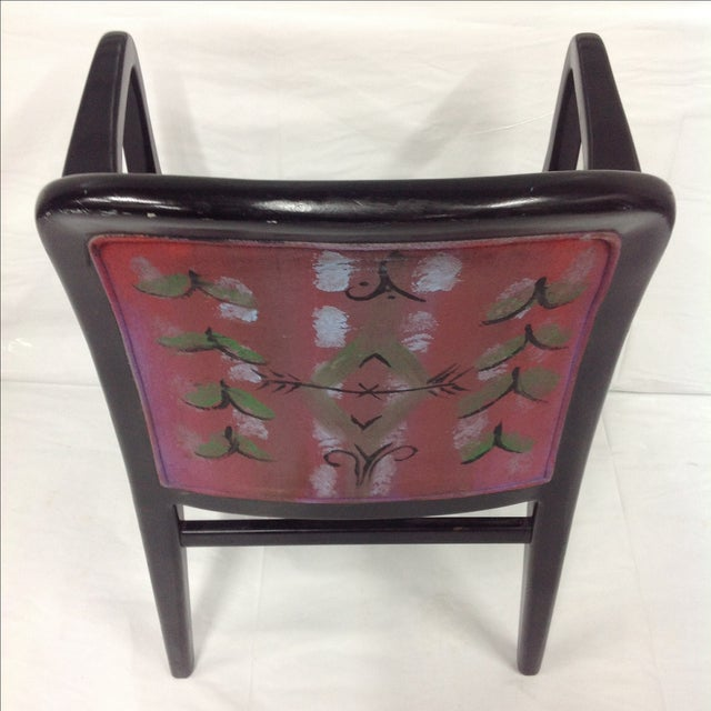 Jack Lenor Larsen Jack Lenor Larsen Painted Textile Lounge Chair For Sale - Image 4 of 8