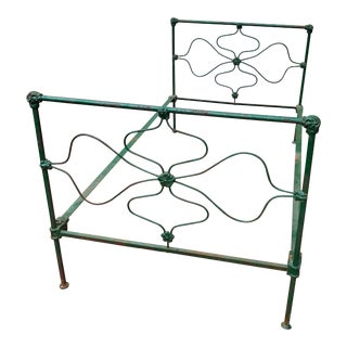 Green Iron Bed Frame For Sale