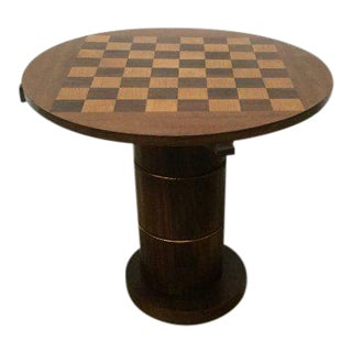 French Art Deco Checkerboard Game Table