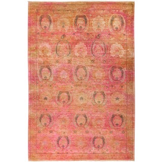 """Leon, Coral Vibrance Area Rug - 6' 2"""" X 8' 10"""" For Sale"""