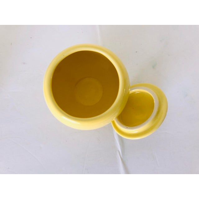 Fiesta Ware Set of Yellow Sugar & Creamer Old Mark