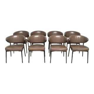Minotti Mills Dining Chairs - Set of 8 For Sale