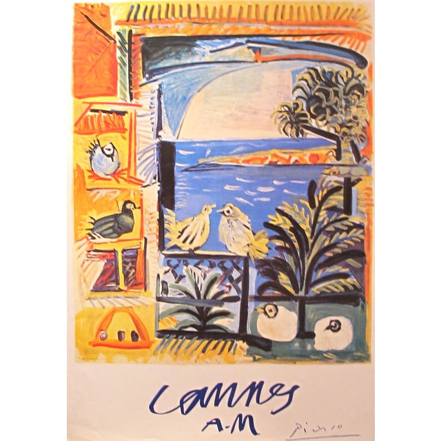 Picasso Cannes Exhibition Poster 1994 - Image 1 of 2