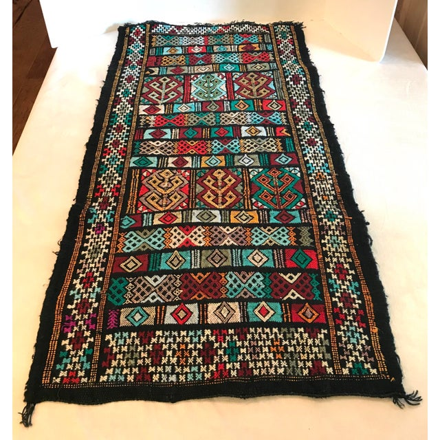 Mid 20th Century Vintage Woven Table Runner Rug- 3′4″ × 1′7″ For Sale - Image 9 of 9