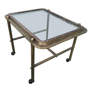 Antique Bronze Rectangular Coffee Table For Sale