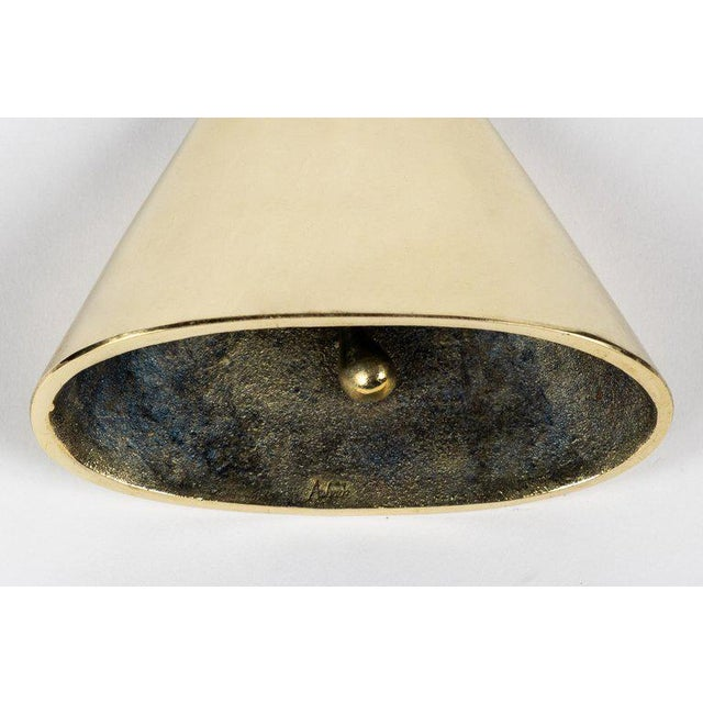 Carl Auböck Brass and Leather Bell For Sale - Image 9 of 10