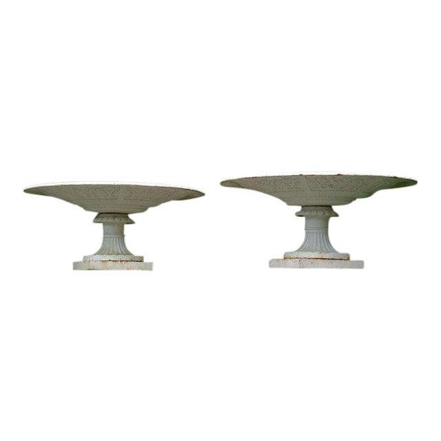 Stylish Cast-Iron Urns - Image 1 of 9