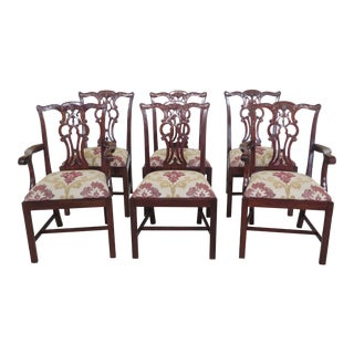 Maitland Smith Chippendale Mahogany Dining Room Chairs - Set of 6 For Sale