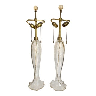 John Hutton for Donghia Murano Lamps, a Pair For Sale