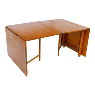 "Swedish Modern Bruna Matthson ""Maria"" Teak Folding Dining Table, C. 1960 For Sale"