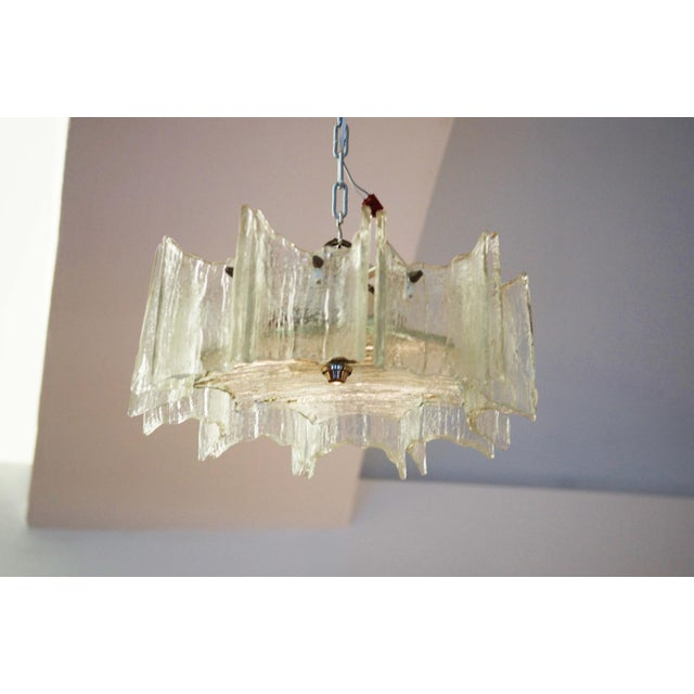 Glass chandelier by JT Kalmar For Sale - Image 9 of 11