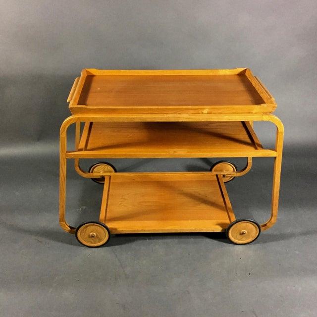 1940s Birch Bar Cart by Reimers Möbler , Mjölby Sweden For Sale - Image 4 of 9