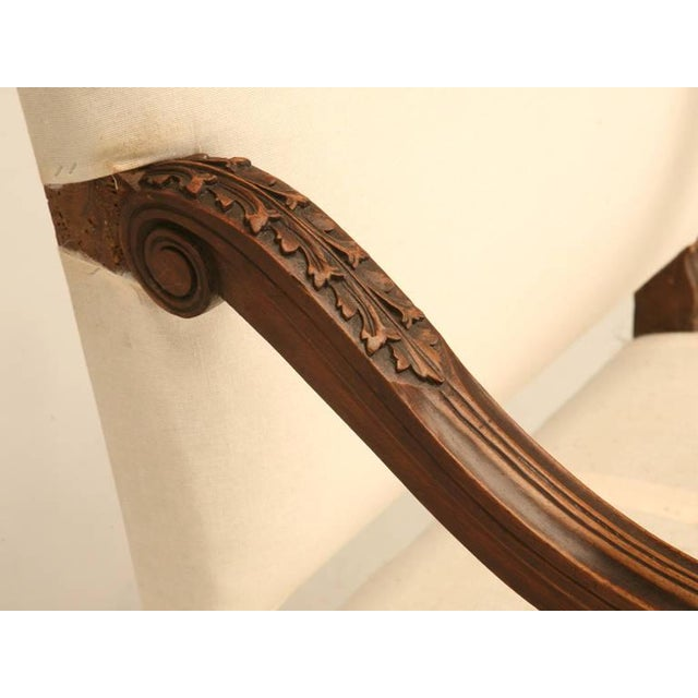 Wood Circa 1880 French Walnut Os De Mouton Throne Chair For Sale - Image 7 of 11