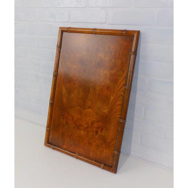 Vintage Burl Wood Walnut Serving Tray For Sale - Image 4 of 6