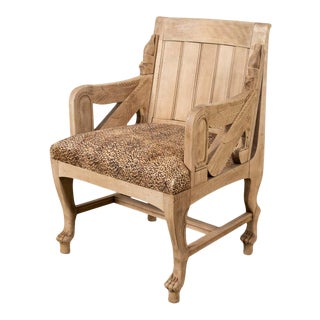 Antique Egyptian-Style Chair For Sale