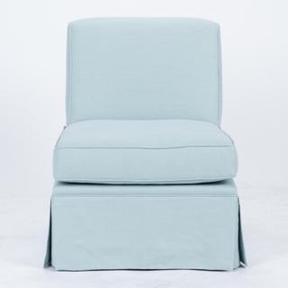 Casa Cosima Skirted Slipper Chair in Porcelain Blue Preview