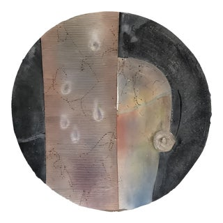 1984 Contemporary Abstract Ceramic Wall Plate by Will Richards For Sale