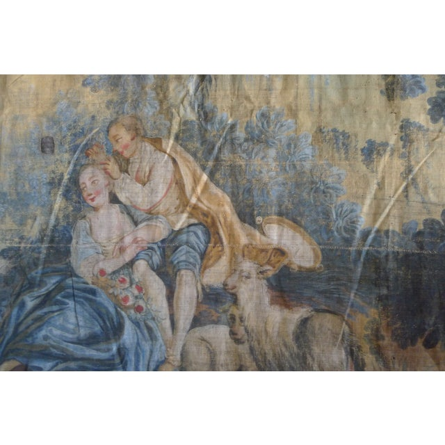 Large Rococo Wall Hanging Tapestry 19th Century - Image 7 of 10
