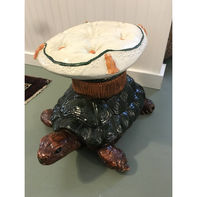 Vintage Turtle Garden Seat Stool For Sale - Image 10 of 10