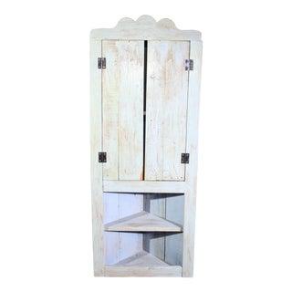 Vintage Shabby Chic Corner Cabinet