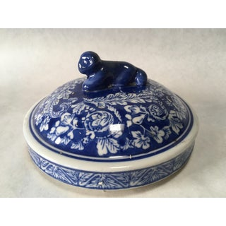 Antique Chinese Temple Jar Lid Preview