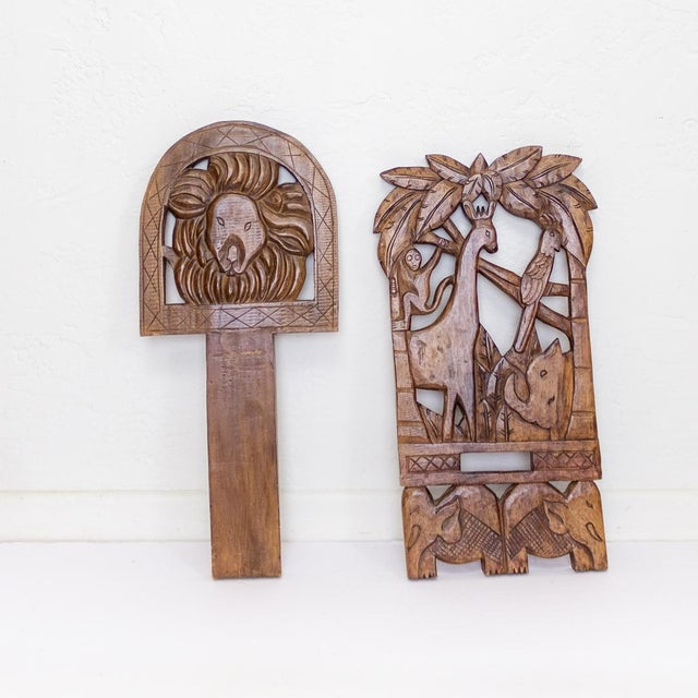 Childs Hand Carved African Chair | Two Piece Palaver Camp Chair For Sale - Image 9 of 11