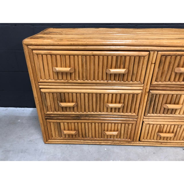 20th Century Split Rattan Triple Dresser ready to mix with your BOHO, beachy or eclectic decor.