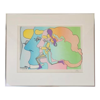 "Peter Max ""Three Lords and Runner"" Signed Limited Edition Serigraph, 1973 For Sale"