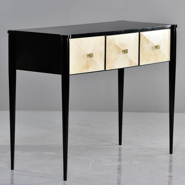 Bespoke Ebonised Console With Vellum Drawers For Sale - Image 9 of 13
