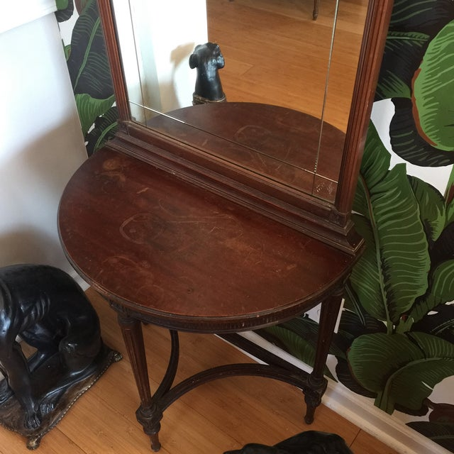 Imperial Mahogany Console Table with Mirror - Image 4 of 9