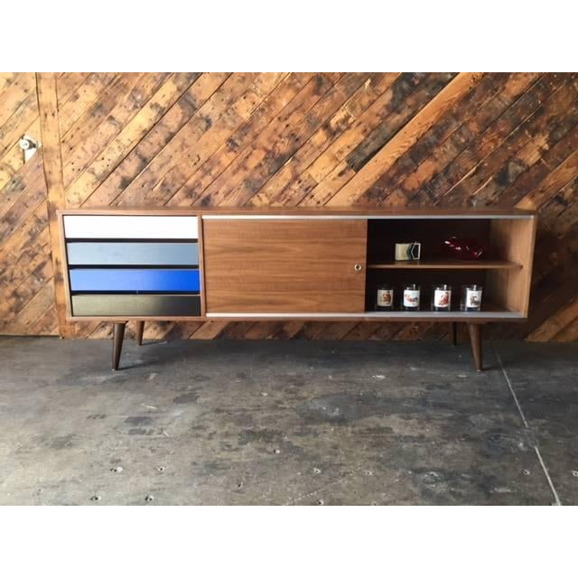 Mid-Century Colorblock Credenza For Sale - Image 5 of 5