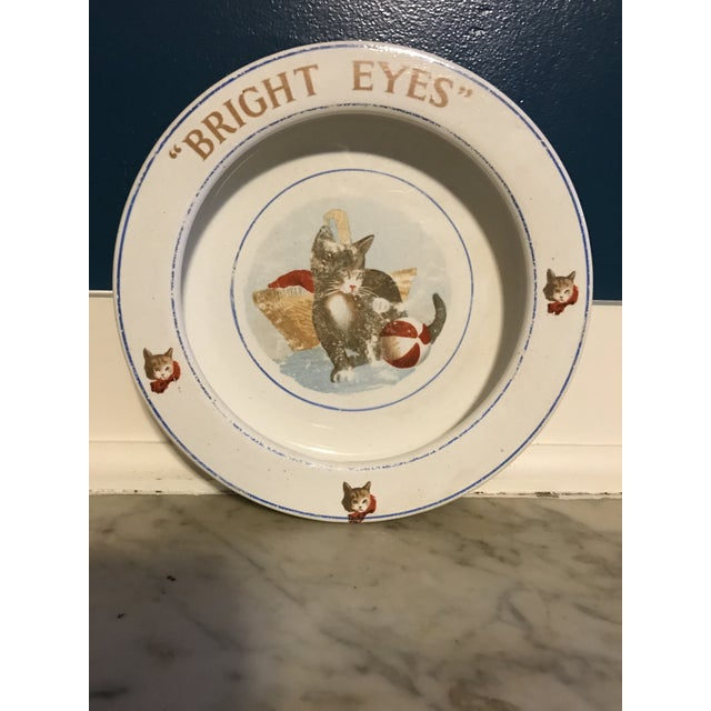 "Late 19th Century Antique Children's ""Bright Eyes"" Dish For Sale - Image 5 of 5"