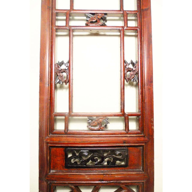 1800-1849 Antique Chinese Cunninghamia Wood Screen Panels - a Pair For Sale - Image 4 of 11