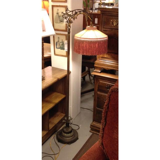 Antique 1930's Bronze Floor Lamp - Image 3 of 8