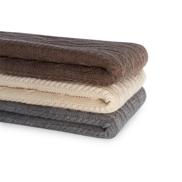 The Howard Cable Throw features our signature cable stitch design, putting a modern twist on a classic Irish cable and, of...