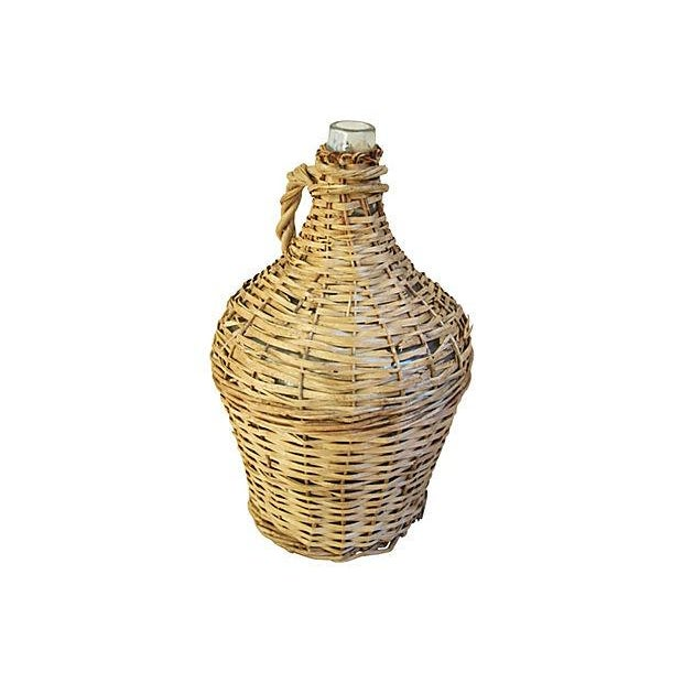 French Wicker Demijohn Bottle - Image 2 of 5