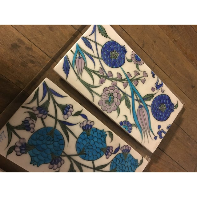 Vintage Persian Ceramic Tiles - Set of 3 - Image 3 of 6