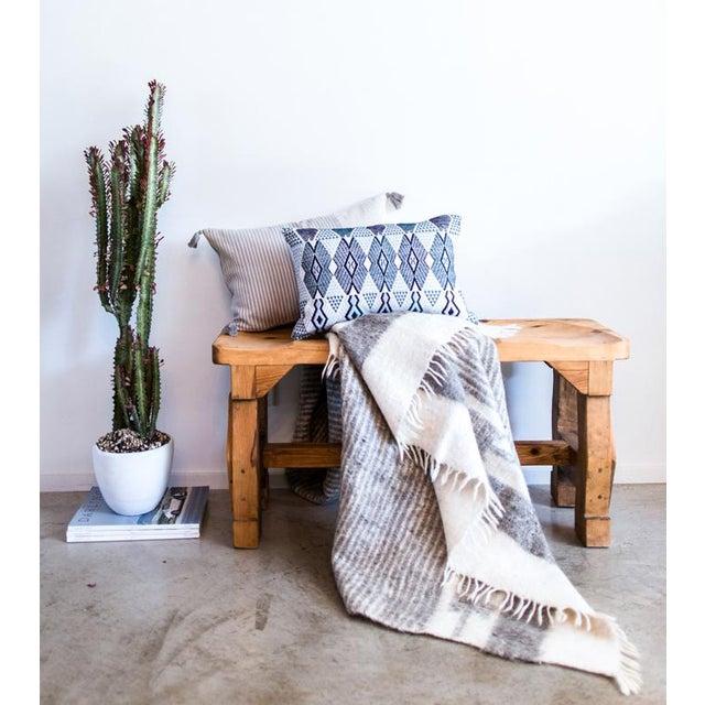Grey & White Wool Blanket - Image 5 of 6