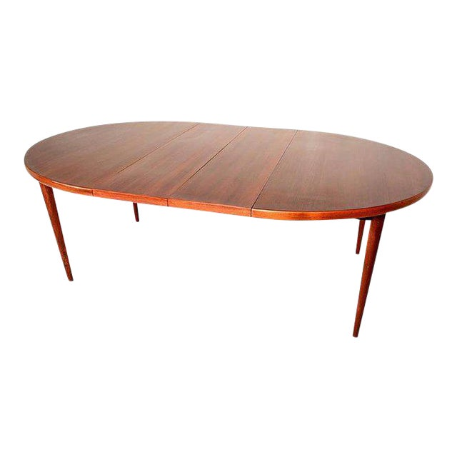 Scandinavian Modern Swedish Oval Dining Table For Sale