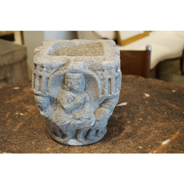 Stone Carved Stone Vase For Sale - Image 7 of 8