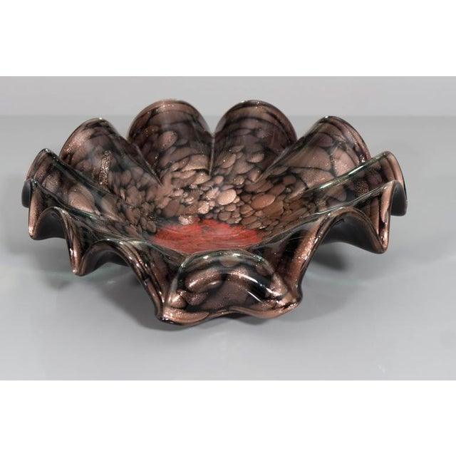 Gold Murano Black, Gold and Red Glass Ballerina Bowl For Sale - Image 8 of 8